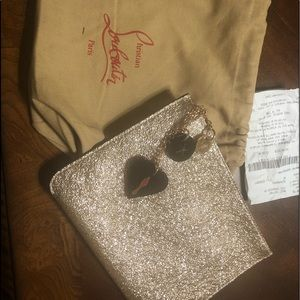 Christian Louboutin bag, clutch, pochette.